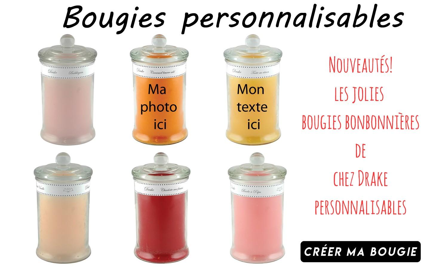 Bougies personnalisables